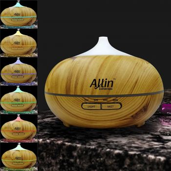 2 in 1 Ultrasonic Aroma Diffuser and Humidifier wood grain color (DT-1518) - 300 ML