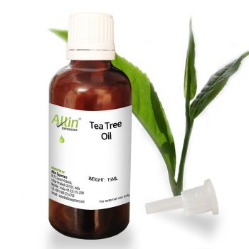Allin Exporters Tea Tree Essential Oil Export Quality, 100% Natural pure and Undiluted Antifungal Antibacterial Benefits For Face Skin Hair Nails Heal Acne Dandruff - Therapeutic Grade