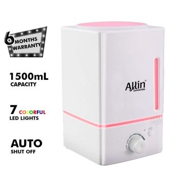 Allin Exporters DT-1618 1500 ml Aroma Diffuser & Ultrasonic Humidifier with 3 Colorful Lights Safe to Use with Essential Oils