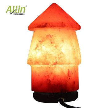 Allin Exporters Natural Himalayan Rock Salt Lamp Decoration and Air Purifying 15 W Indenscent Bulb for Lighting