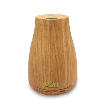 Allin Exporters DT-105LW Aromatherapy Diffuser Essential Oil 4 in 1 to Purify, Ionize, Humidify & Spread Aroma Ultrasonic Humidifier Cool Mist with 7 Color Changing LED Lights (200ml, Light Wood)