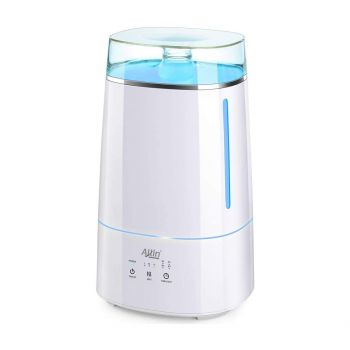 Allin Exporters LH-2028(192) Top Fill Ultrasonic Humidifier & Air Purifier with Adjustable Cool Mist, Timer & Waterless Auto-Off Ideal for Home, Bedroom, Office, Baby Room (3.5L, White)