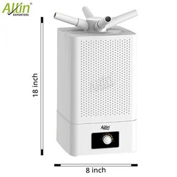 4 Way Cool Mist Ultrasonic Humidifier 360 Degree Air Purifier for Home Office Bedroom Baby Room (11 L, White)