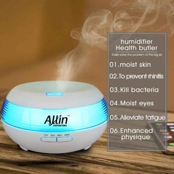2 in 1 Cool Mist Ultrasonic Aroma Diffuser and air Humidifier (1513) - 300 ML