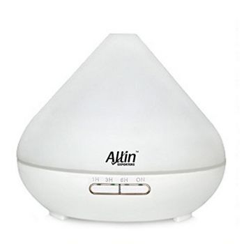 Allin Exporters Ultrasonic Essential Oil Diffuser Aromatherapy Diffuser 300ml, 7 Color LED Lights - (1516)