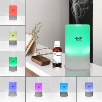 Allin Exporters DT2109 Aromatherapy Ultrasonic Essential Oil Aroma Diffuser 7 Led Color Light, 30/60/120/180 min timer Setting , Cool Mist Aroma Humidifier for Room Aroma 100 ML Tank Capacity