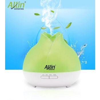 2 in 1 Ultrasonic Aroma Diffuser and Humidifier Lotus Design (1519) - 300 ML