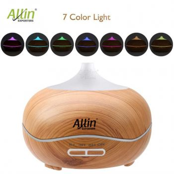 2 in 1 Ultrasonic Aroma Diffuser and Humidifier (Wooden Grain & White) (DT-1518 Model - A)