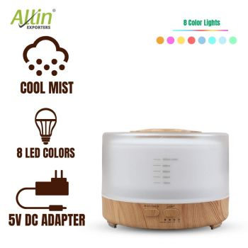 Allin Exporters PY2467YK-LW 500 ml Essential Oil Aroma Diffuser Cool Mist Ultrasonic Humidifier with Wireless Remote Control & Timer Setting
